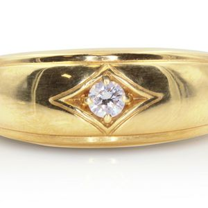 8076 DIAMOND RING 0.15CT MENS WEDDING BAND 18K GOLD 9.50 GRAMS for Sale in Los Angeles, CA