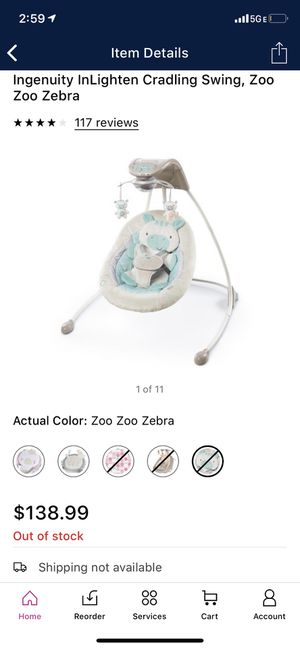 Baby swing ingenuity for Sale in San Lorenzo, CA