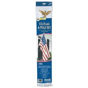 BRAND NEW High Quality American Flag with Pole Set Fourth of July Celebration BBQ Grill Pool Summer for Sale in Temple City, CA