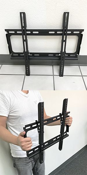 "New $12 Tilt 23""-50"" TV Wall Mount Bracket Ultra Slim Design 15degree Down, Max load 100Lbs for Sale in Whittier, CA"