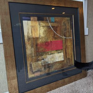 Matted Artwork with Copper-colored Frame for Sale in Redmond, WA