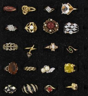 Twenty-Four Costume Cocktail and Dress Rings for Sale in Westminster, CO