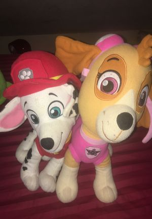 Paw Patrol Marshall & Sky Big Plushies for Sale in East Providence, RI