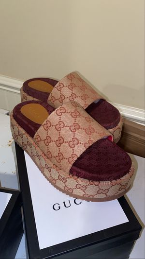 Women designer Gucci platform slides for Sale in McDonough, GA