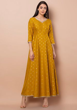 Mustard embellished foil maxi Kurti / Kurta (New with tags) for Sale in Silver Spring, MD
