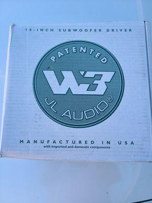 "Jl audio w3v3-8ohm 10"" subwoofer sub car audio for Sale in Phoenix, AZ"