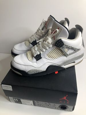 Nike air Jordan 4 white cement size 11 for Sale in Bellevue, WA