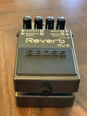 BOSS RV-6 Reverb + Delay Guitar Effects Pedal for Sale in Fresno, CA