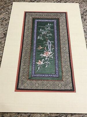 Antique/Vtg Chinese Embroidery Silk Butterfly Panel Mountain Scene 17x9 for Sale in Atlanta, GA