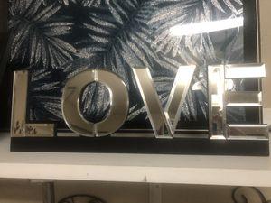 Mirrored LOVE Decor 15x5 NEW for Sale in Mokena, IL