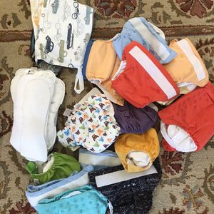 Cloth Diapers, Inserts, Laundry Bags And Sprayer for Sale in Ellicott City, MD