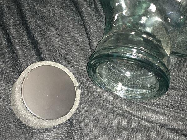 Glass jar heads for desk, hats, headphones, Halloween, everyday