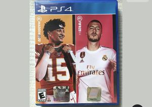 Madden 20 FIFA 20 good condition disc and case for Sale in Wenatchee, WA