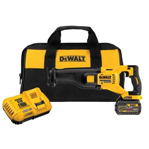 DEWALTFLEXVOLT 60-Volt MAX Lithium-Ion Cordless Brushless Reciprocating Saw with (1) Battery 2Ah, Charger and Contractor Bag for Sale in Dumfries, VA