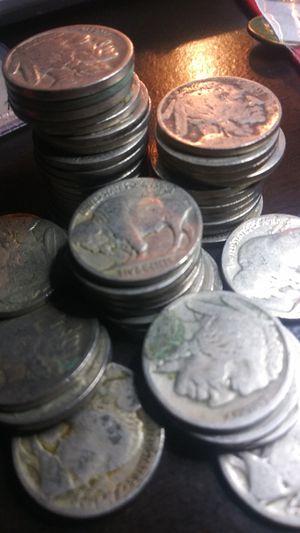 40 Buffalo Nickels - No Date - 1 Roll of Dateless Buffalos for Sale in Wenatchee, WA