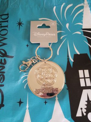 Disney Parks Epcot Center 35th Anniversary Logo Silver Metal Keychain for Sale in Riverside, CA