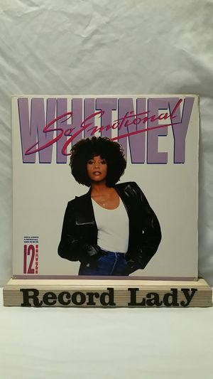 """Whitney Houston """"So Emotional""""(comes with poster) vinyl record pop / R&B for Sale in San Diego, CA"""