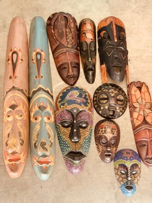Wood masks collection for Sale in Peoria, AZ