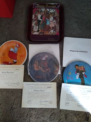 Norman Rockwell plates for Sale in Sunnyvale, CA