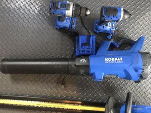 4 Kobalt 24V power tools, 2 batteries and charger for Sale in Leesburg, VA