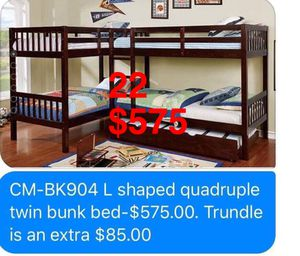 Bunk Beds. Mattresses & Trundle not included. Assembly Required. Free Delivery. for Sale in Commerce, CA