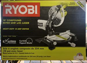 "RYOBI 10"" Compound Miter Saw with Laser for Sale in Davie, FL"