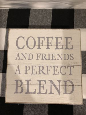 Coffee & Friends wood sign for Sale in Monterey, TN