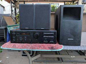 Onkyo amplifier and speakers for Sale in South El Monte, CA