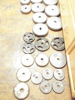 24 barbell weights from 2 1/2 pounds up to 14 pounds all for $100 for Sale in Allen, TX
