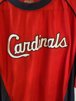 St. Louis Cardinals Mens Size XL MLB Appliqued Cardinals Logo Baseball Jersey for Sale in Bakersfield,  CA