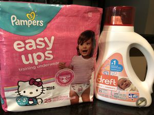 Dreft pampers easy ups 2T 3T for Sale in Aurora, IL