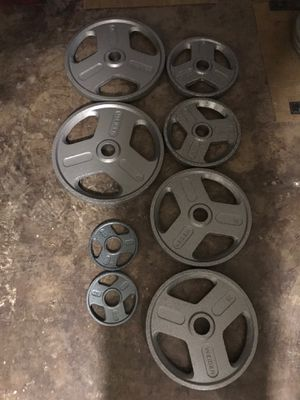 Weider wieder Olympic plates weight lifting for Sale in Lomita, CA