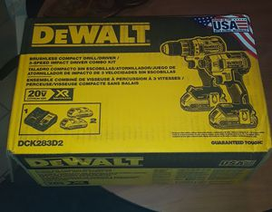 Dewalt brushless drill / driver 3 speed impact driver combo kit for Sale in Miramar, FL