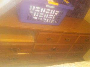 9 drawer dresser one drawer is missing for Sale in Hicksville, OH