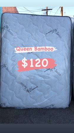 BAMBOO PILLOW TOP MATTRESSES ☎️📲 •10inches thick •same day delivery or pick up •twin $95 •Full $110 •queen $120 for Sale in Lynwood,  CA