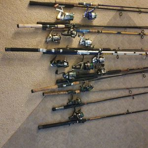 13 FISHING POLES & REEL Combos and 4 Extra Poles for Sale in Rochester, NY
