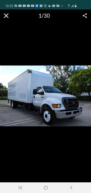 2013 Ford F-750 26 ft box, 102x103, 138K miles, 26,000 GVWR, hydraulic brakes, for Sale in Hollywood, FL