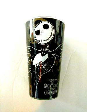 Nightmare Before Christmas Jack Skellington Glass Cup Brand new glass featuring Nightmare Before Christmas Jack Skellington for Sale in Lincoln Acres, CA