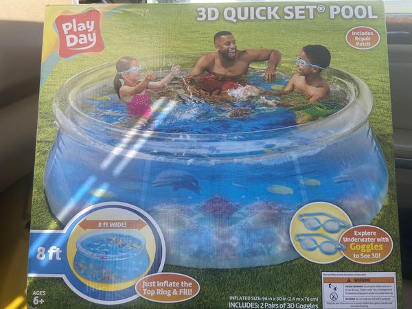 3D family home pool 8ft $135 obo