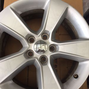 Set of 4 wheels rims 17 Came from Dodge Charger . 4 Center cups including. for Sale in Kent, WA