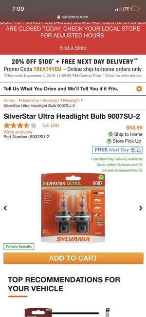 Sylvania headlight bulbs for Sale in Fresno, CA