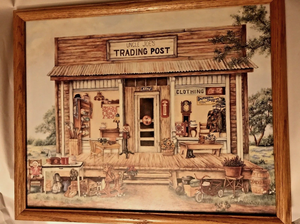 """Signed, CocaCola, """"Uncle Joe's trading post"""" 22x18 Framed for Sale in Las Vegas, NV"""