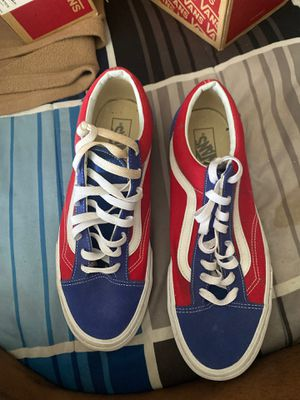 Red blue and white checkerboard Vans size 11.5 for Sale in Atlanta, GA