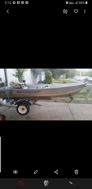 2008 14ft seanymph boat and trailer for Sale in Wilmington, DE
