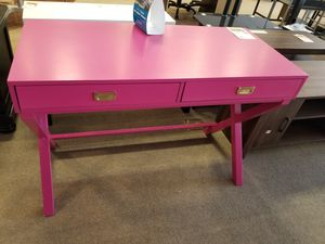 Hot Pink Desk/Entry Table for Sale in Phoenix, AZ