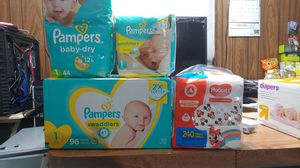 Diapers ,size #1, New, 3 packages, & wipes for Sale in San Bernardino, CA