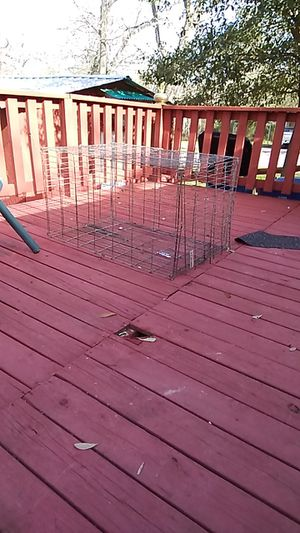 Large metal dog kennel for Sale in Coffee City, TX