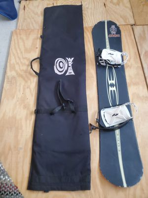 Edge snowboard 153 cm with bindings and board bag. for Sale in San Diego, CA