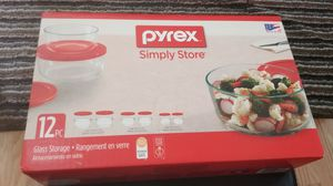 New Pyrex glass simple storage 12 for Sale in Sudley Springs, VA