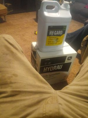 Was left with a few 2.5 gallon bottles of hydraulic oil... for Sale in Amarillo, TX